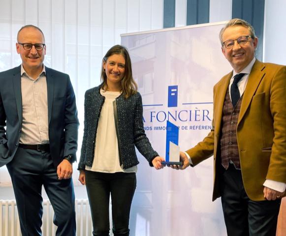 Arnaud de Jamblinne directeur général La Foncière, reçoit le CIFI Award 2021